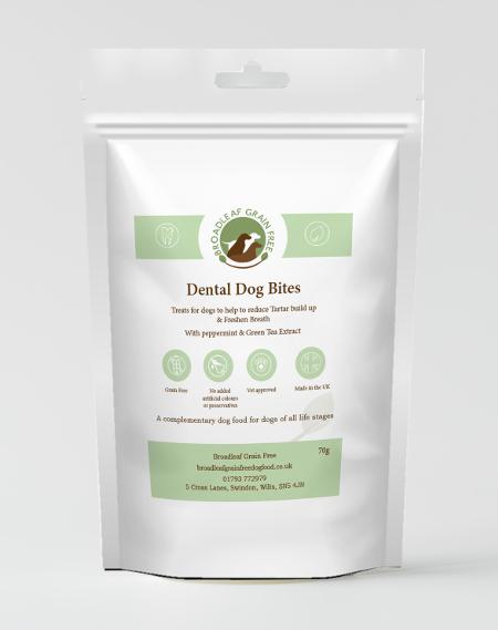 Grain-Free Turkey, Wild Boar, Peppermint and Green Tea Extract Dental Treats - 70g